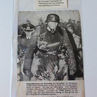 German Propaganda flyer dropped on Omaha Beach