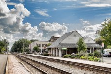 Railroad tracks through Ashland, VA
