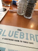 Bluebird Cafe Menu