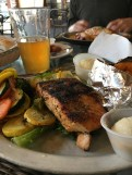 Grilled Salmon with sweet potato