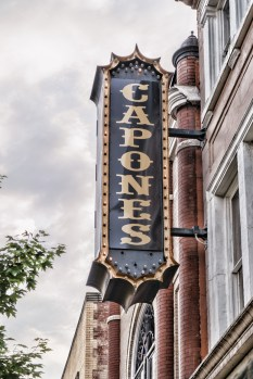 Capones Sign by Sharon Popek