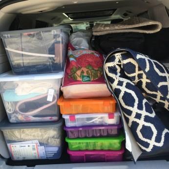 The van is packed