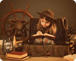 Book reading girl