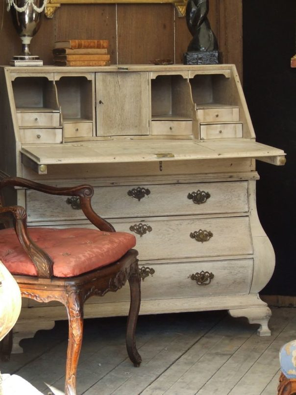 antique french desk with french chair