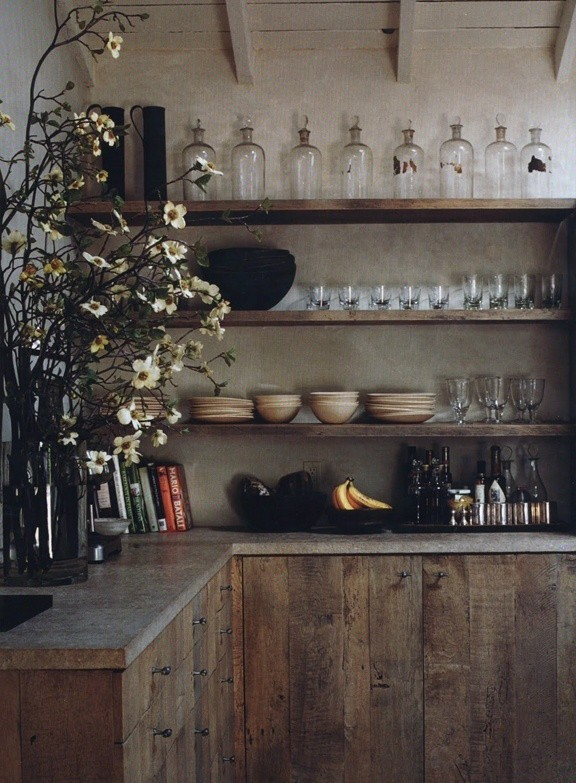 ideas for open kitchen shelving