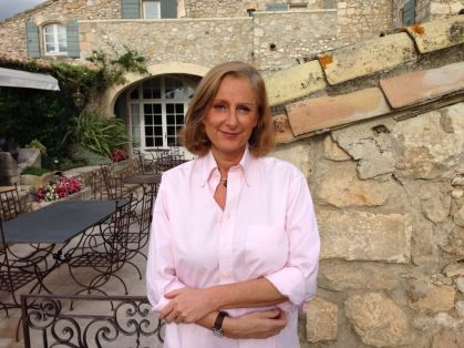 Madame Huppert, owner of the Mas de la Rose hotel, south of France