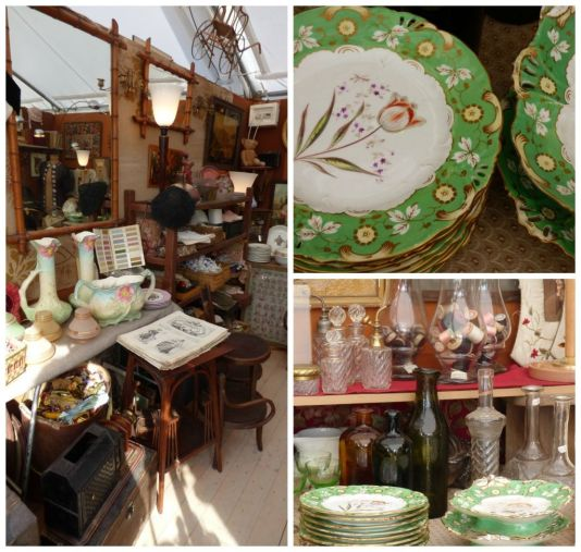 selection of antiques found at the chatou fair near paris