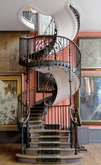 staircase in gustave moreau museum paris