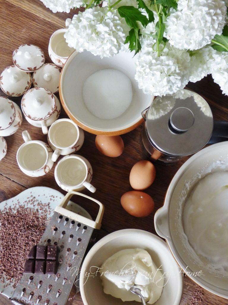 ingredients gathered for making tiramisu