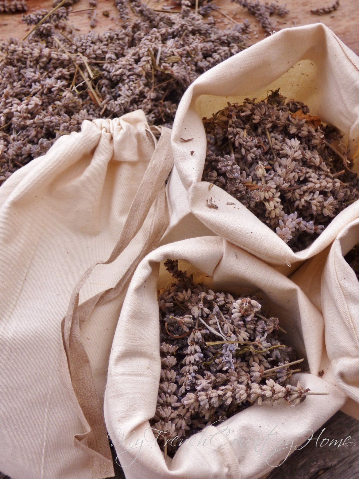 lavender in cotton bags