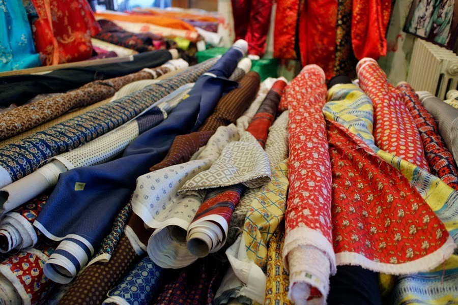 French Fabric Heaven In Paris Le Marché St Pierre My French Country Home