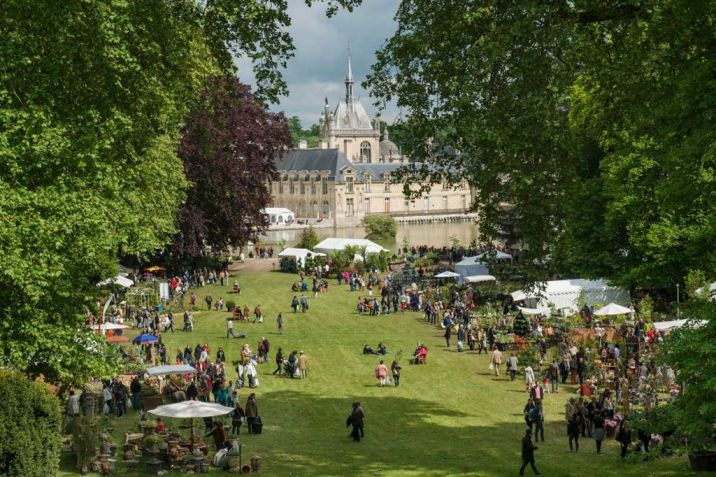 plant fair in the grounds of the chateau de chantilly