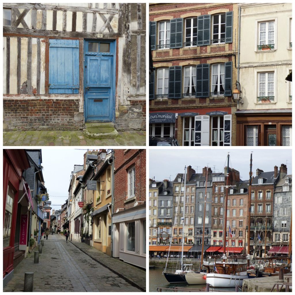 views of honfleur timbered houses
