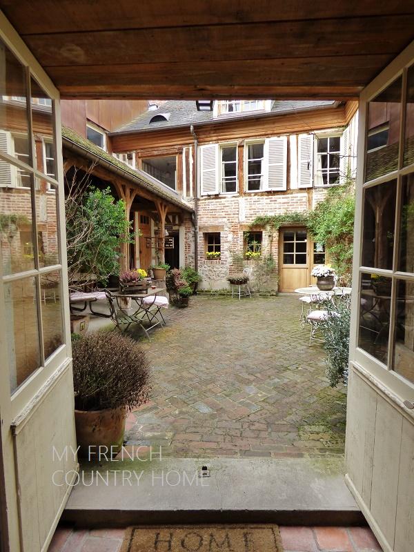 view onto courtyard