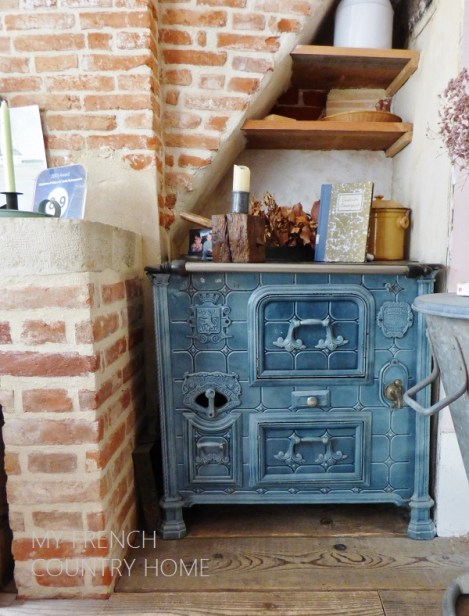 old stove in french home