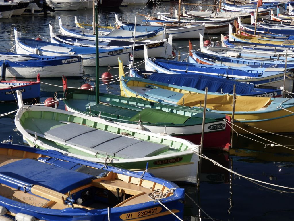 boats in port of nice