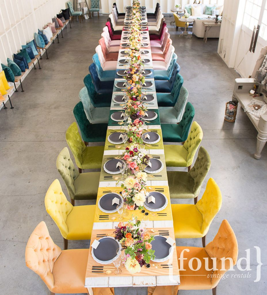 table styled by Jeni Maus of found rentals,