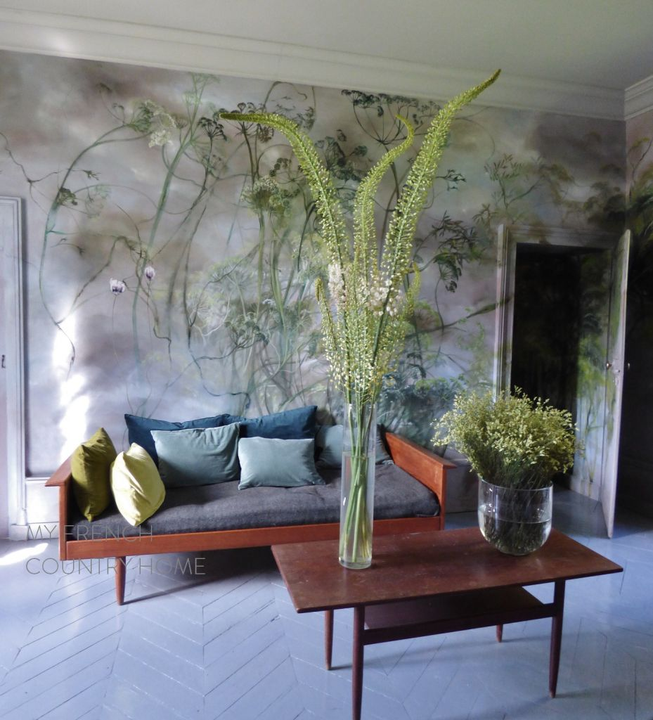 painted room in claire basler's chateau
