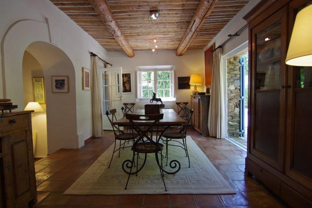 dining room in french house