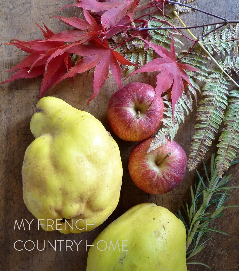 quince and apple ready to cook