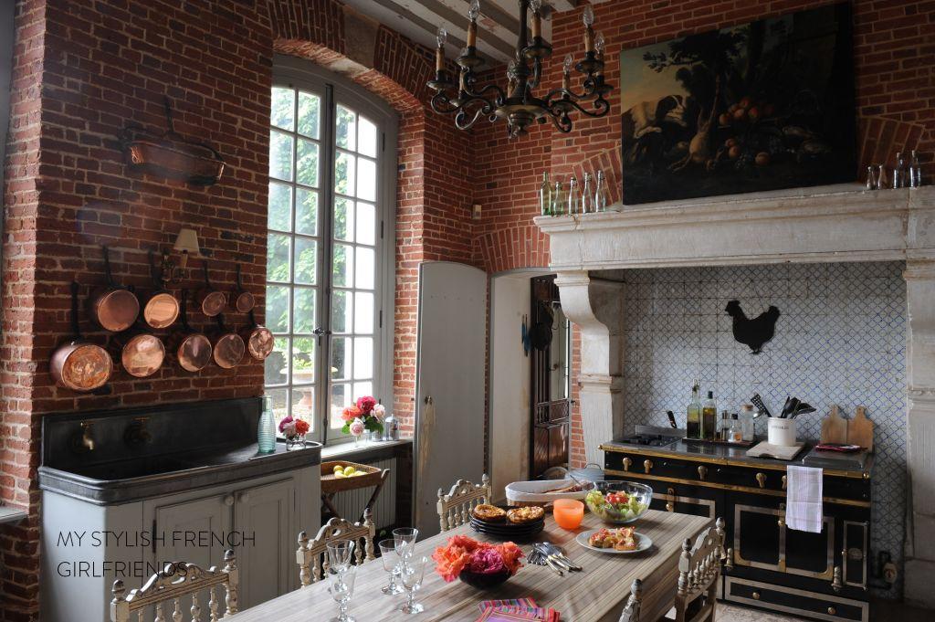 country kitchen with la cornue stove
