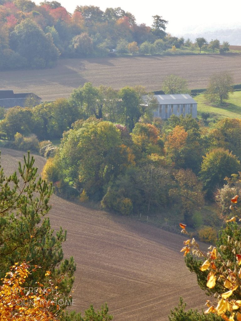 autumn on fields in normandy