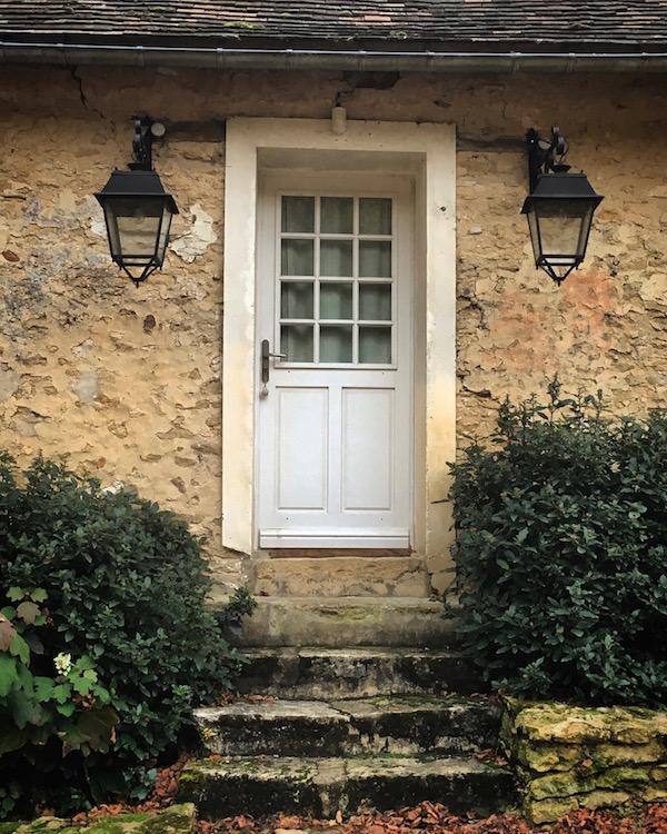 door above stone steps