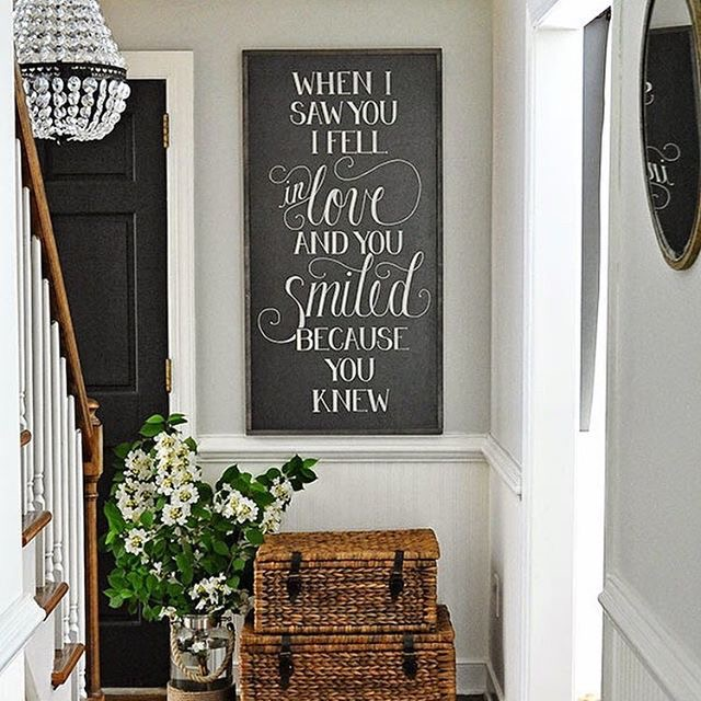 chalkboard at end of stairs