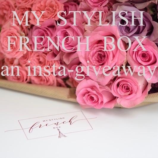 my stylish french box instagiveaway