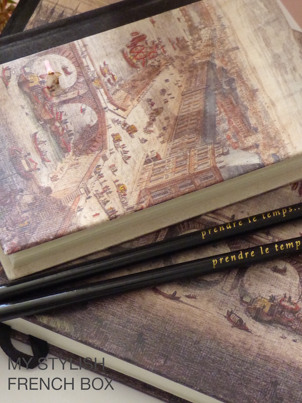 notebooks and pencils in My Stylish French Box