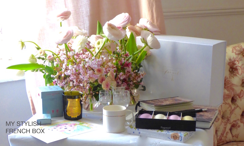 displayed contents of my stylish french box