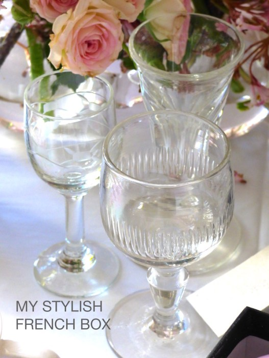 antique glasses in my stylish french box