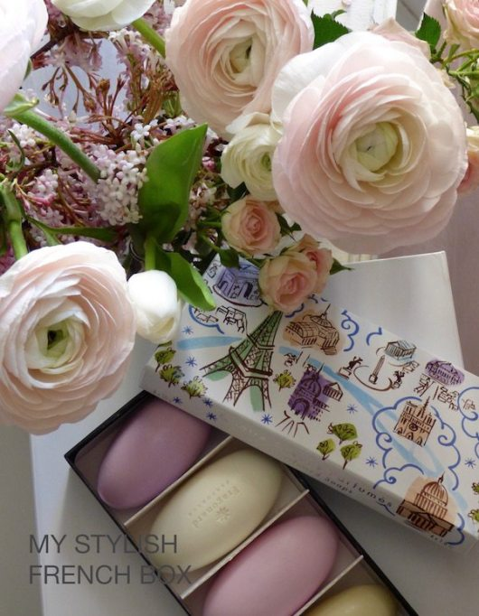 fragonard soaps in my stylish french box