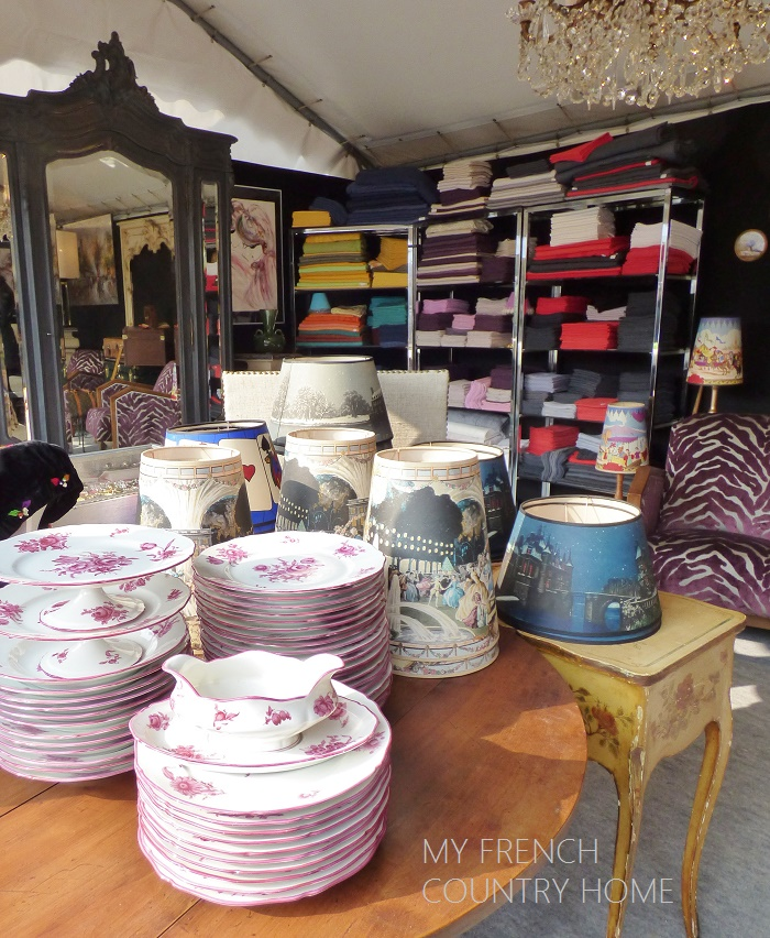 antiques at the chatou brocante fair