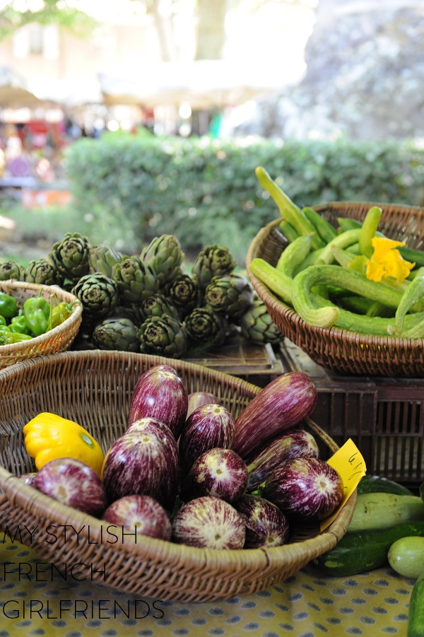 fresh vegetables at market