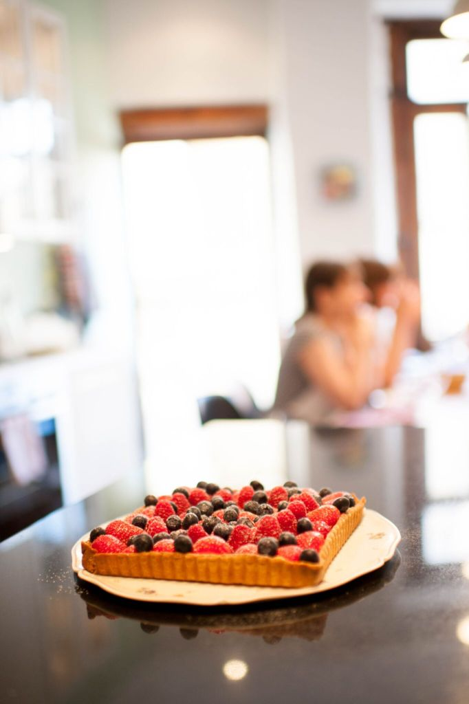 fruit tart at les petits farcis cooking school