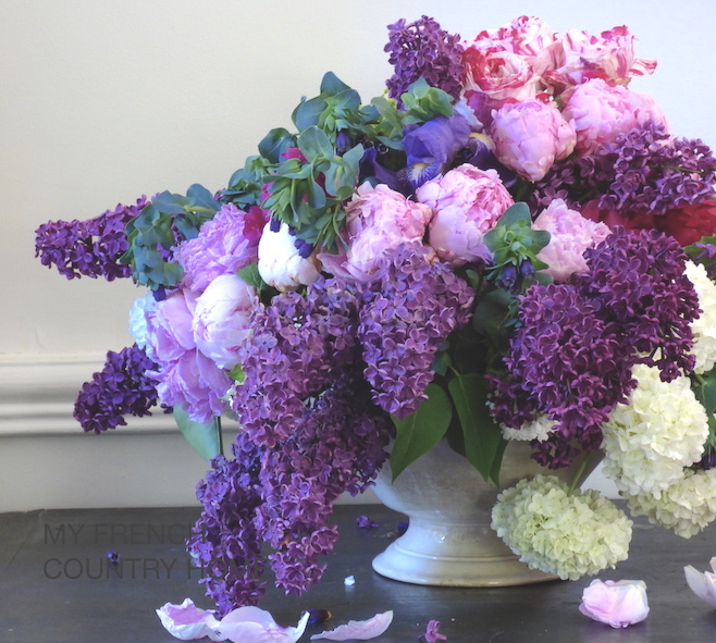 bringing lilac indoors - MY FRENCH COUNTRY HOME