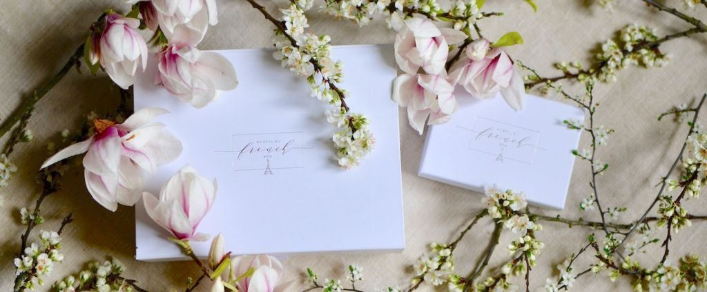 my stylish french box with magnolias and blossom