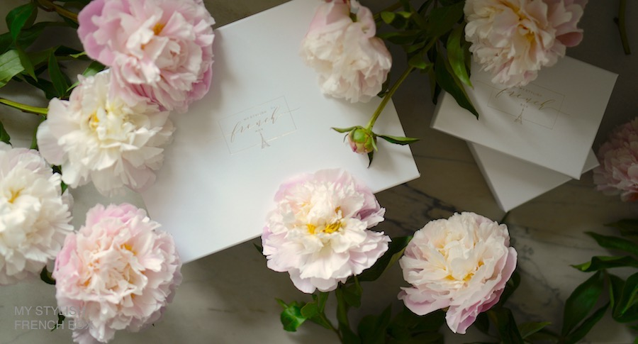 my stylish french box with peonies