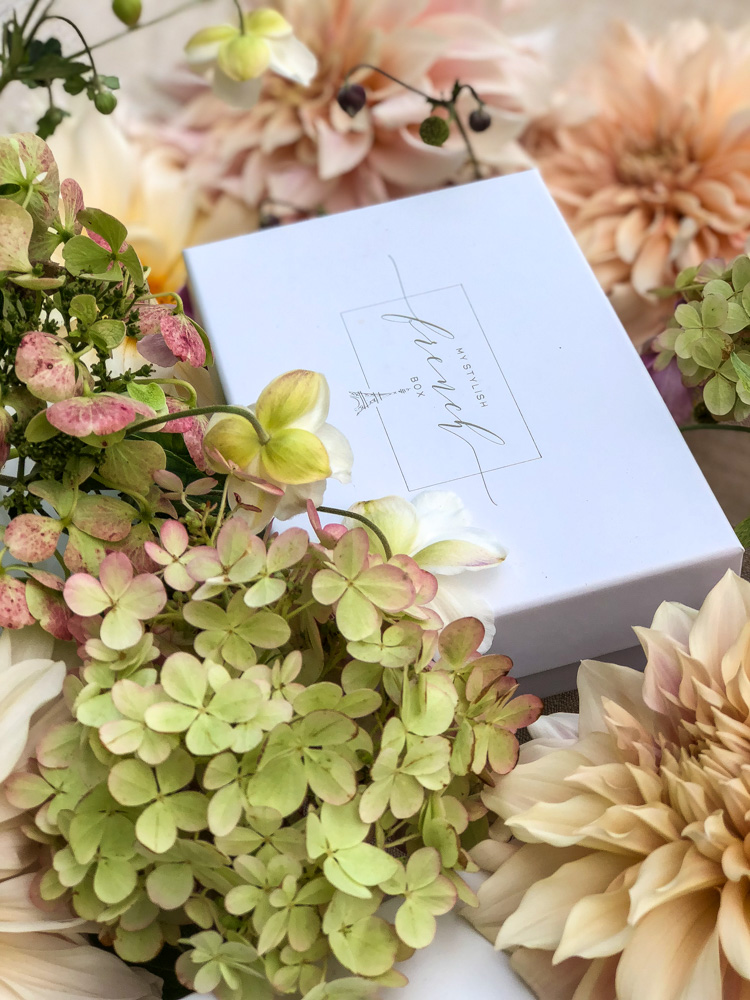 autumn leaves and flowers on my stylish french box