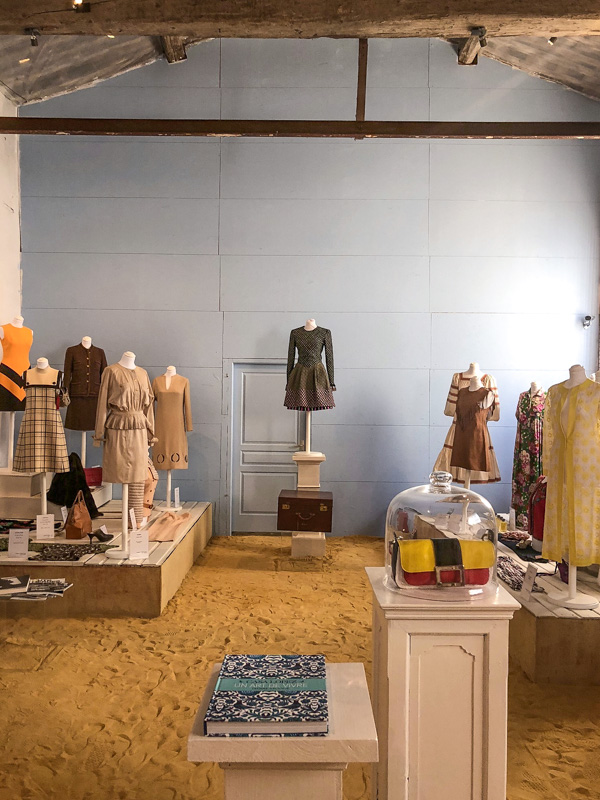 clothes displayed at chateau des anges summer show