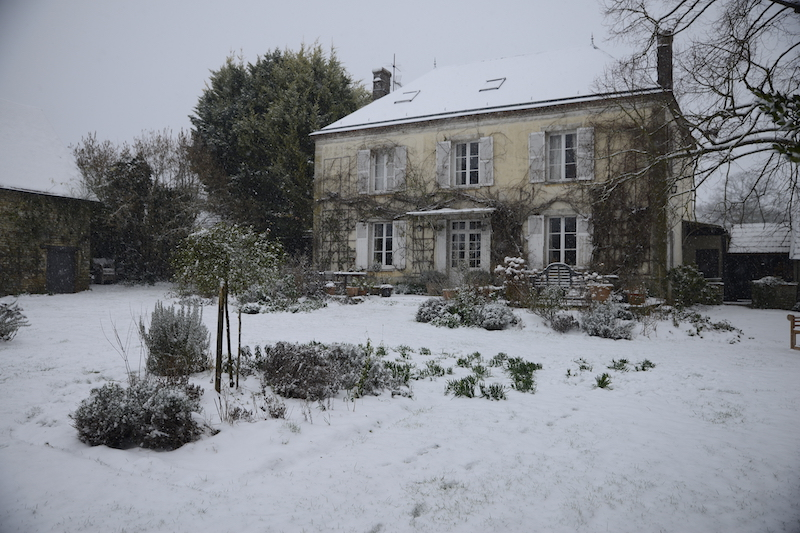 The house and garden covered in snow- looking forward to christmas with the family- MY FRENCH COUNTRY HOME