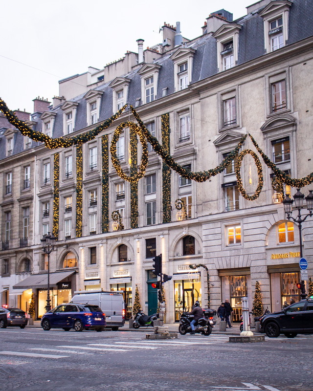 Rue Royale- paris decorated for christmas- MY FRENCH COUNTRY HOME