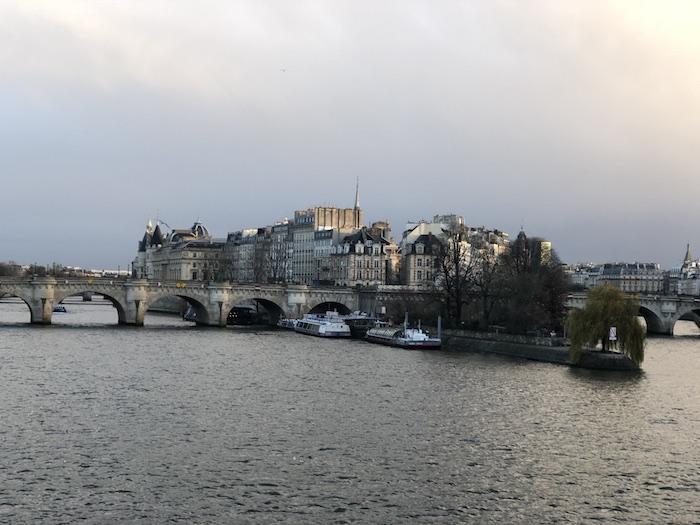 paris seen from le pont des arts
