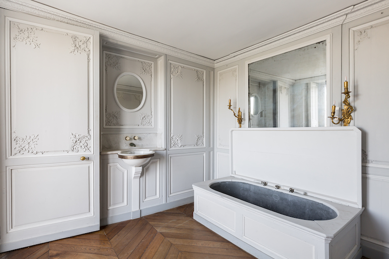 Bathroom in the private apartments at Chateau de Chantilly   Grand Opening of the newly Remodeled 19th century apartments   My French Country Home