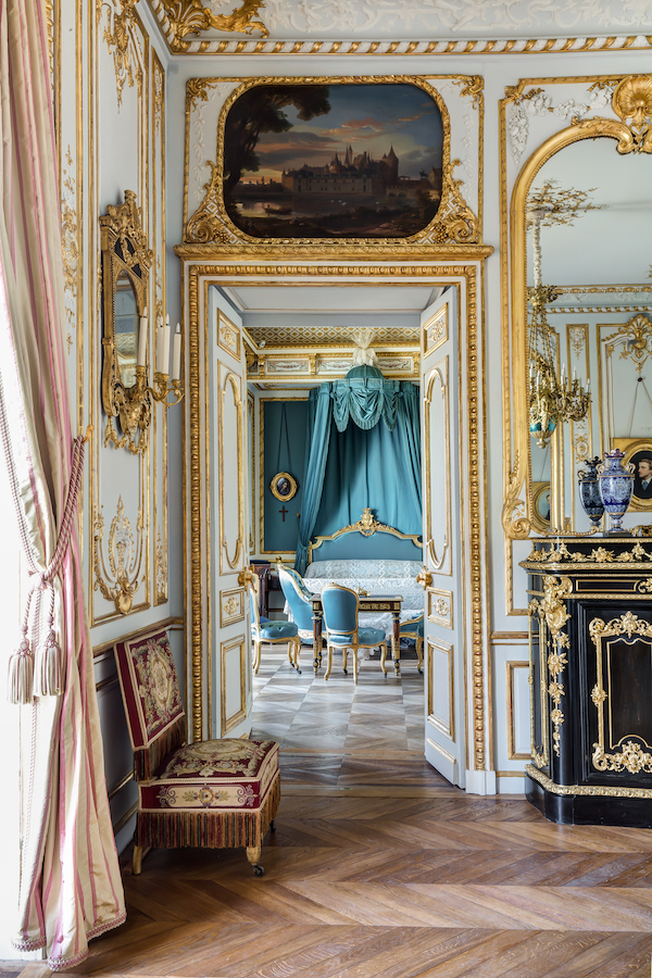 Interior with gold gilding and turquoise accents | Grand Opening of the newly Remodeled 19th century apartments | My French Country Home