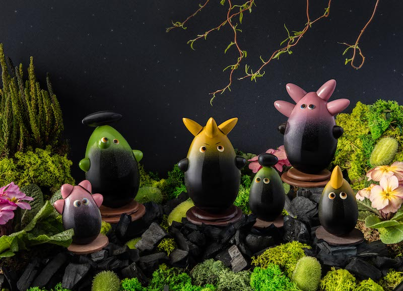 Mythical creations made out of chocolate for Easter