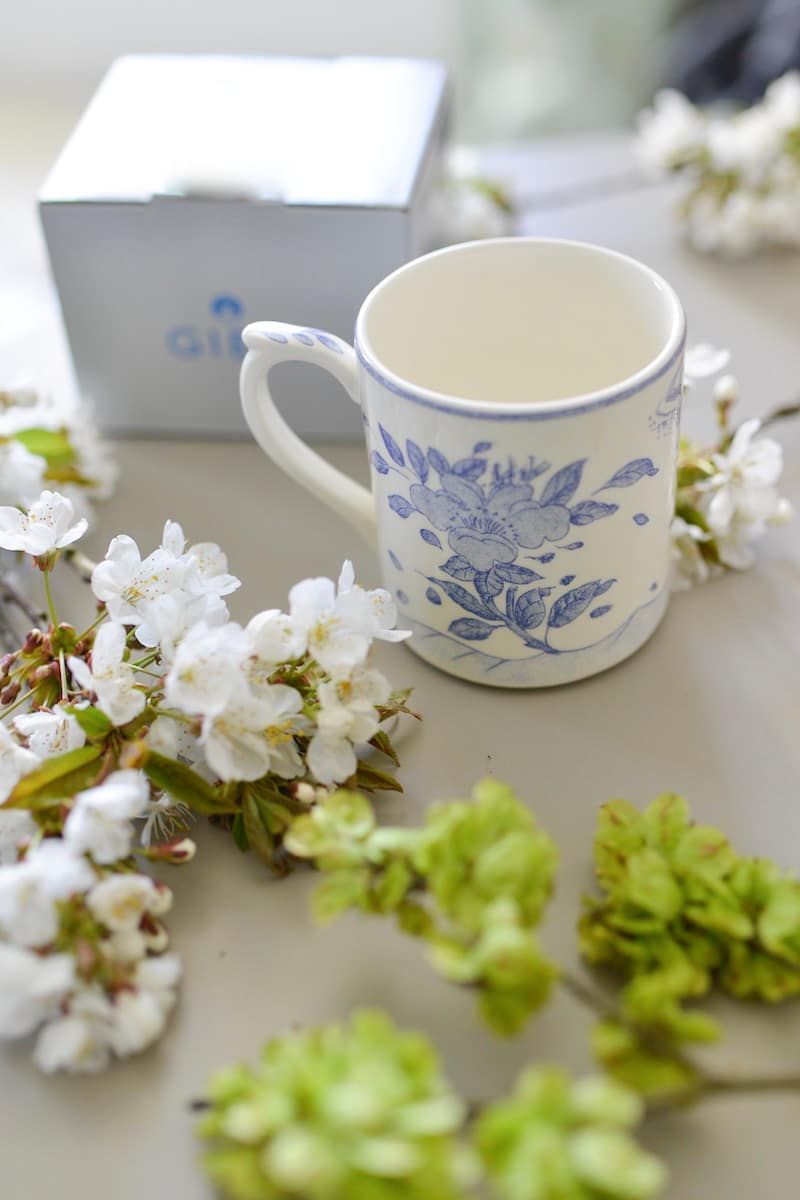 blue and white box- may 2019- my stylish french box- faiencerie de gien mug