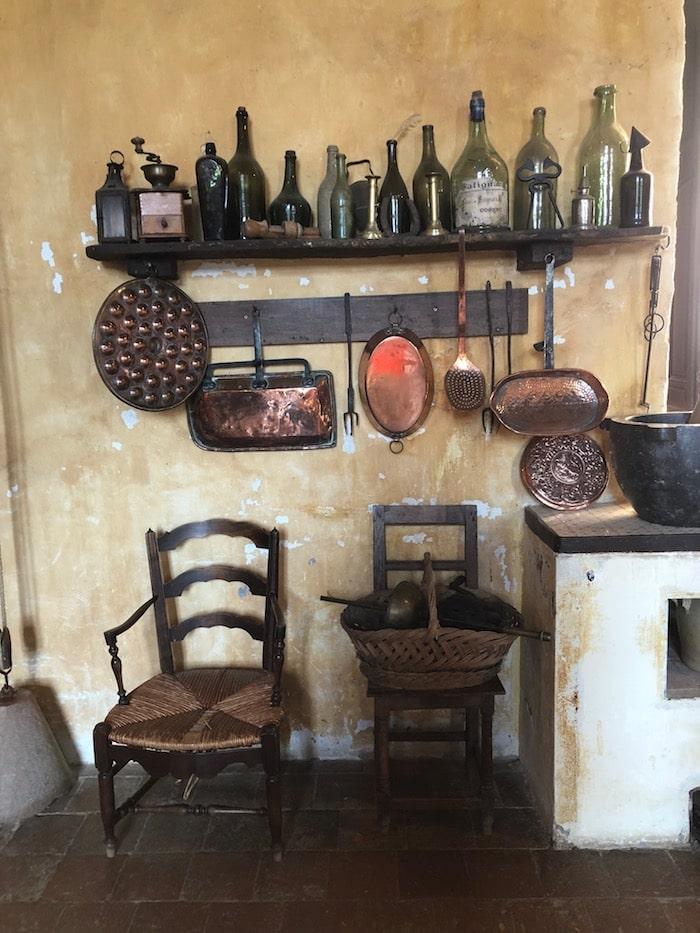 chateau kitchen on the MFCH Burgundy Tour