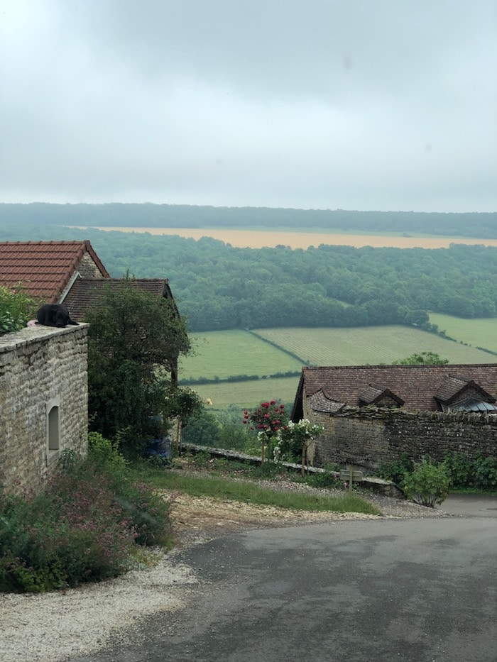 a view over burgundy on the MFCH Burgundy Tour